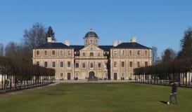Histórico, favorito do castelo com Förch, no público, livremente parque acessível, Rastatt na Floresta Negra fotografia de stock royalty free