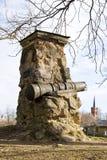 Histórico o canhão da Idade Média fotografia de stock