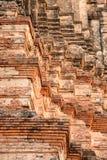 Histórico velho no templo de Ayutthaya, Tailândia fotografia de stock royalty free