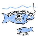 Histaminfiskförgiftning royaltyfri illustrationer