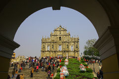 The center of Macau. The histiric center of Macau royalty free stock photography