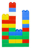 Histogram. From colourful plastic blocks Stock Photos