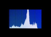 Histogram. Normal histogram showing slight underexposure, but no clipping vector illustration