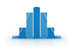 Histogram - Normal Distribution II stock image