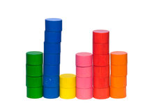 Histogram from toy tokens Royalty Free Stock Image