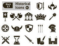 Histoical icons stock illustration