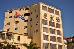 Histoire cubaine sur un bâtiment Photographie stock libre de droits