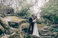 Histoire d'amour, épousant la photo de beaux couples Photos stock