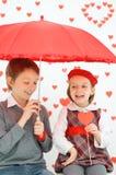 Histoire d'amour Photo libre de droits