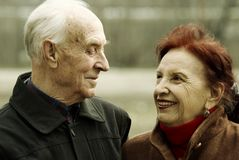 Histoire d'amour aînée photographie stock libre de droits