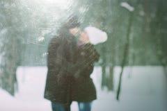Histoire d'amour avec un couple dans l'amour Photo stock