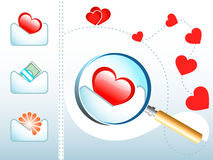 histoire d'amour d'email Photo stock