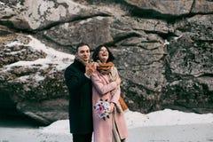 Histoire d'amour d'hiver Photo stock