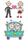 Histoire d'amour de couples de bâton Photographie stock