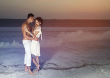 Histoire d'amour de jeunes beaux couples Photographie stock