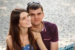Histoire d'amour de jeunes couples Images libres de droits