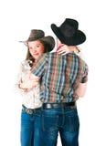 Histoire d'amour du cowboy Photos stock