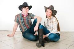 Histoire d'amour du cowboy Photographie stock