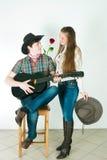 Histoire d'amour du cowboy Image libre de droits