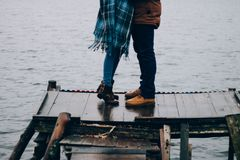 Histoire d'amour en mer Image libre de droits