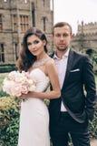Histoire d'amour Photo de mariage de beaux couples tendres Photo libre de droits