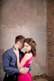 Histoire d'amour romane de couples Hapiness embarce Photo libre de droits