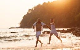 Histoire d'amour sur la plage Images libres de droits