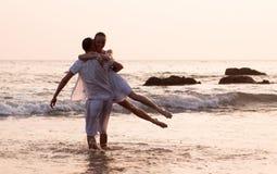 Histoire d'amour sur la plage Photographie stock