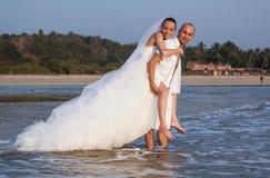 Histoire d'amour sur la plage Photo libre de droits