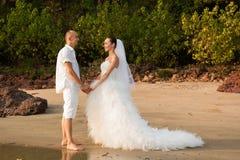 Histoire d'amour sur la plage Photo stock