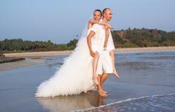 Histoire d'amour sur la plage Images stock