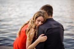 Histoire d'amour sur le fond de l'eau Image libre de droits