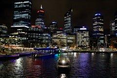 Histoire d'Elizabeth Quay d'Australie de Perth photo stock