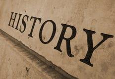 Histoire découpée dans la pierre Photos stock