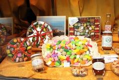 Histoire de boutique de la fin des 700 Romanengo Gênes Photos stock