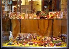 Histoire de boutique de la fin des 700 Romanengo Gênes Photographie stock