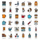 Histoire de café illustration stock