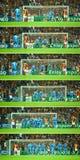Histoire de coup-de-pied de but de Cristiano Ronaldo Photo libre de droits