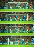 Histoire de coup-de-pied de but de Ronaldo Images stock