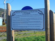Histoire de la notation et des chemins de fer dans Garibaldi photos libres de droits