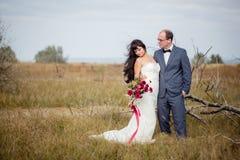 Histoire de mariage et d'amour en nature Photographie stock libre de droits