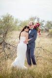 Histoire de mariage et d'amour en nature Image stock