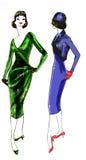 Histoire de mode : Modèle 1950 Image stock