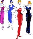 Histoire de mode : Modèle 1950 Photos libres de droits