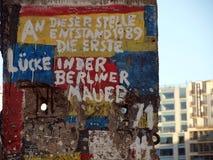 Histoire de mur de Berlin Photographie stock libre de droits