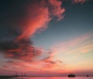 Histoire de nuages Images libres de droits
