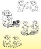Histoire de pastèque Photo stock