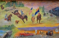 Histoire de peinture murale de Williams Images libres de droits
