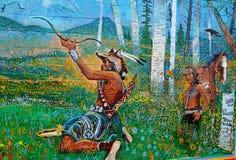 Histoire de peinture murale de Williams Image libre de droits