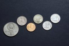 Histoire 1988-2015 de pièce de monnaie de rouble Photographie stock